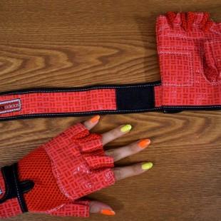 دستکش بدنسازی دخترانه مدل f7494