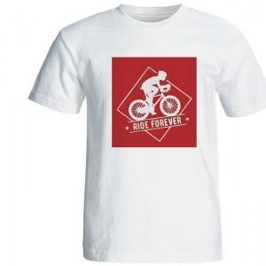 تیشرت آستین کوتاه مردانه طرح دوچرخه