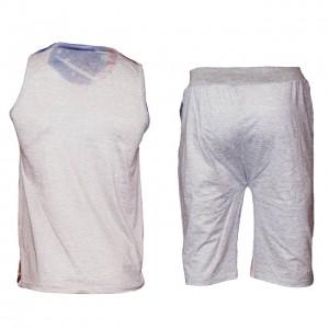 ست تاپ و شلوارک ورزشی مردانه کد adidas | A17