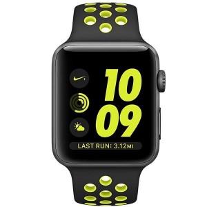ساعت هوشمند اپل واچ سری 2 مدل Nike Plus 42mm Space Gray with Black/Volt Band