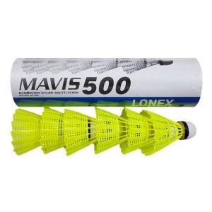 توپ بدمینتون یونکس مدل Mavis 500 بسته 6 عددی سایز 1.5