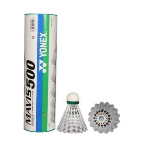 توپ بدمینتون یونکس رنگ سفید مدل Mavis 500 بسته 6 عددی سایز 1.5