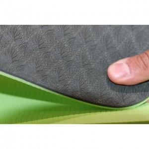 مت یوگا TPE دو رو 6 میلی متری اورجینال رنگ مشکی سبز