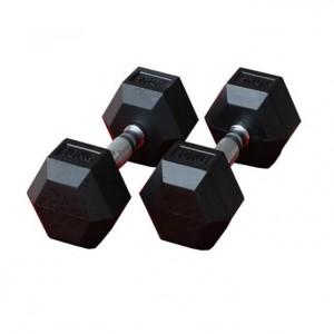 دمبل بدنسازی شش ضلعی وزن 25 کیلوگرم بسته 2 عددی
