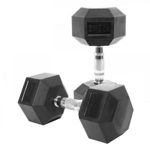 دمبل بدنسازی شش ضلعی وزن 30 کیلوگرم بسته 2 عددی