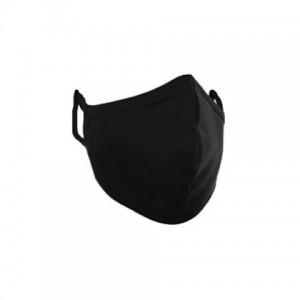 ماسک ساده پارچه ای رنگ مشکی(استرج)