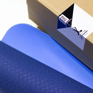 مت یوگا TPE دو رو 6 میلی متری اورجینال رنگ آبی