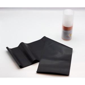 Pilates elastic band ELASTIC BAND thickness 0.5 mm orange