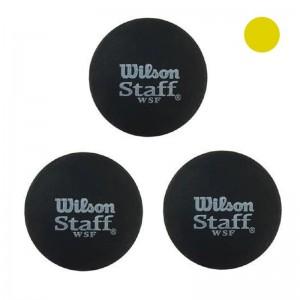 توپ اسکواش ویلسون مدل Staff یک نقطه زرد بسته 3 عددی (اصل)