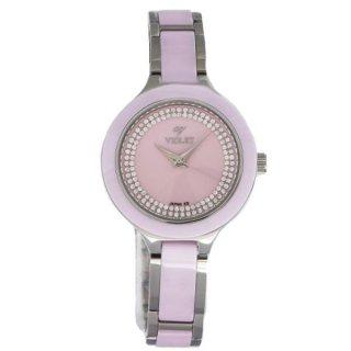 ساعت مچی زنانه ویولت مدل Violet 12329 Pink Ladies