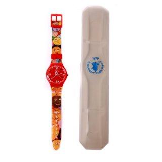 ساعت مچی طرح سواچ قرمز