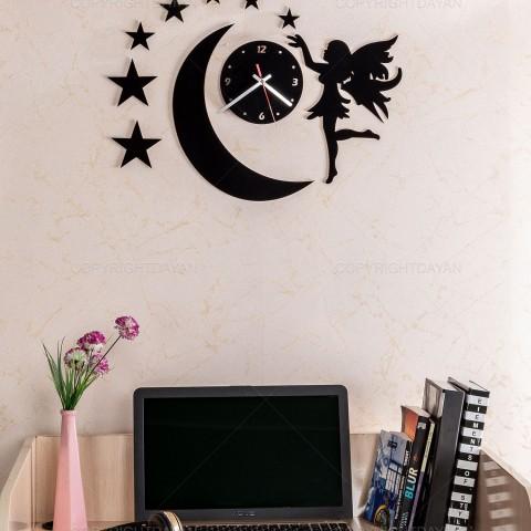 ساعت دیواری ستاره روکش مخمل