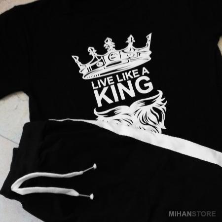 ست تی شرت و شلوار مردانه King