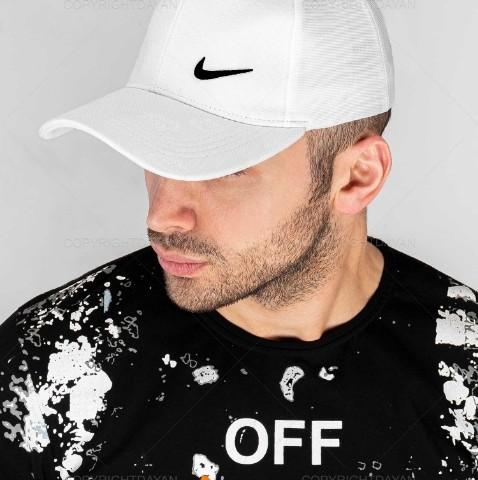 کلاه کپ سفید نایک Nike