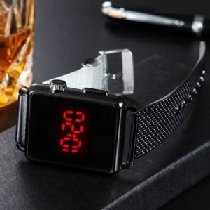 ساعت LED بند فلزي مدل Ronas