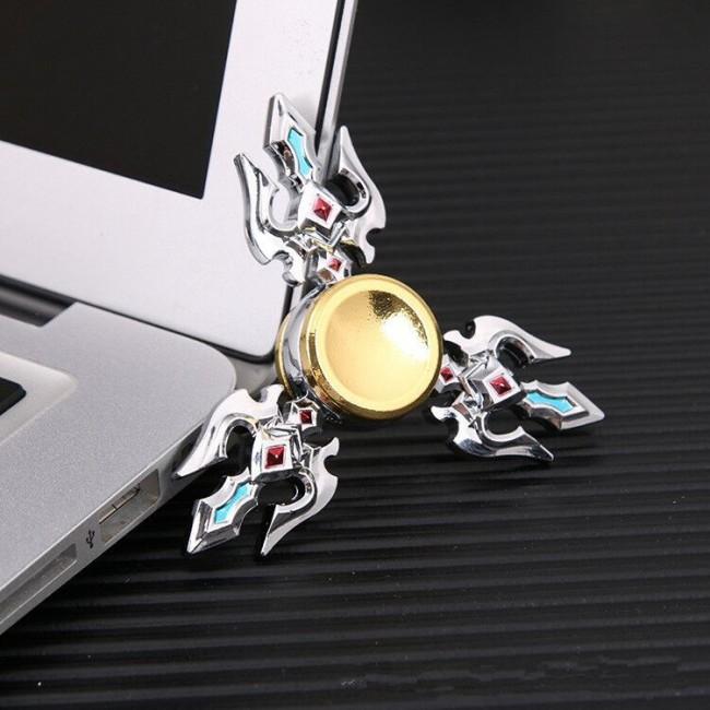 اسپینر فلزی Focus Fidget Spinner اسپینر فلزی 3 پره نگین دار