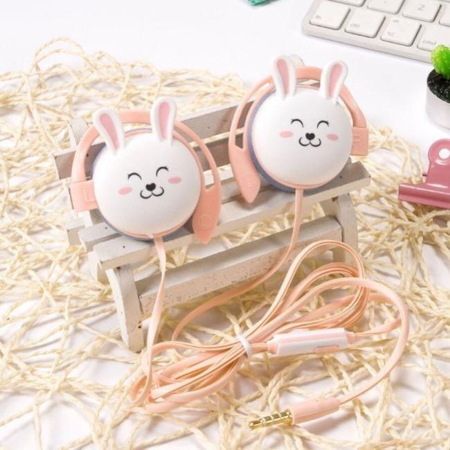 هندزفری فانتزی دور گوش طرح خرگوش Sibyl Cute Rabbit Cartoon Stereo Earphone Wired