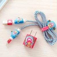 پک محافظ کابل پلاستیکی protective Toys محافظ کابل + برچسب شارژر آیفون فانتزی