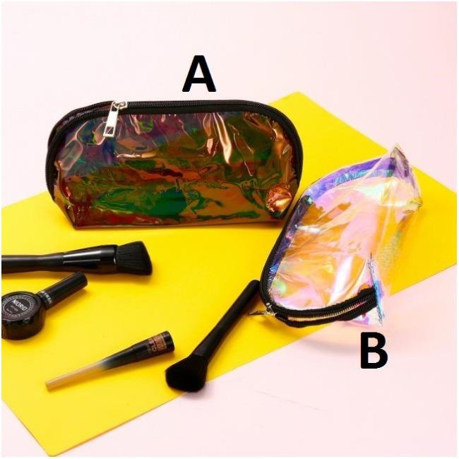 کیف لوازم آرایش شفاف Make up Hologram Bag