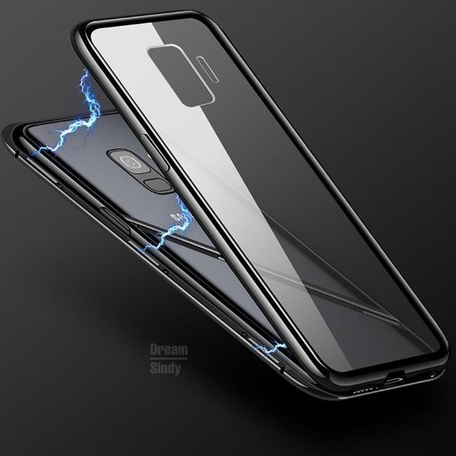 قاب مگنتی شیشه ای Magnet Bumper Glass Case Galaxy S9