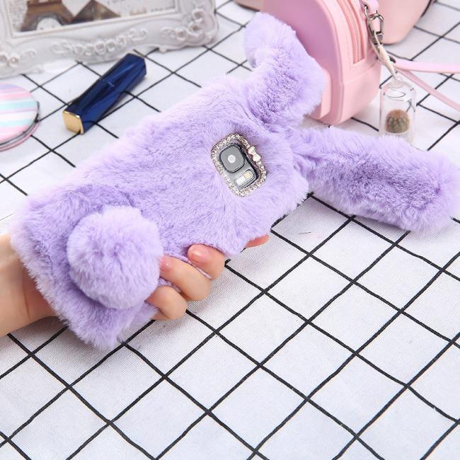 قاب ژله ای خزدار خرگوشی Rabbit Fur Case Galaxy J7 Duo