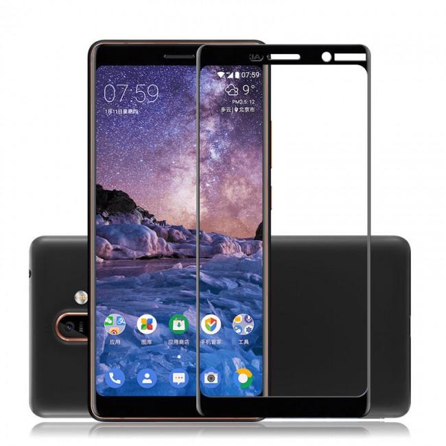 محافظ LCD شیشه ای فول چسب Full Glass Full Glue Screen Protector.Guard Nokia Nokia 7 Plus