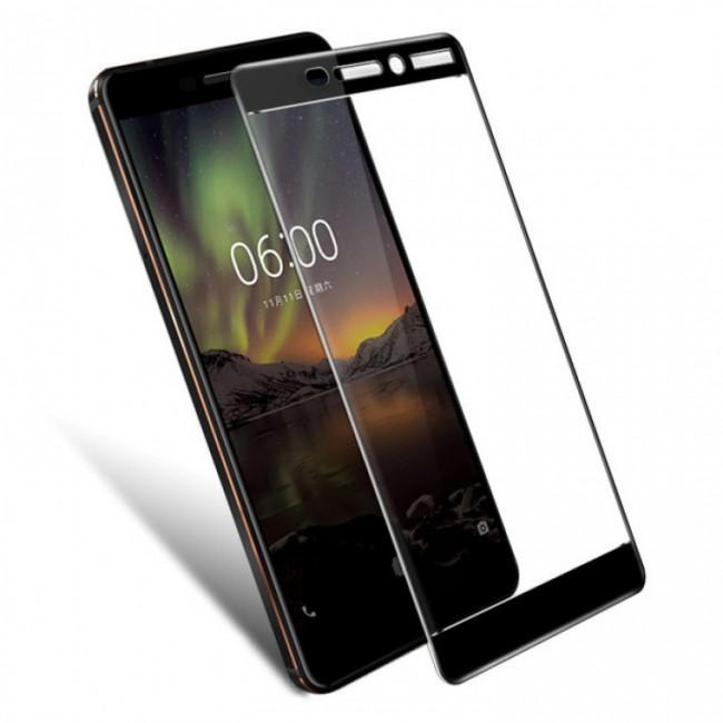 محافظ LCD شیشه ای فول چسب Full Glass Full Glue Screen Protector.Guard Nokia Nokia 6 2018