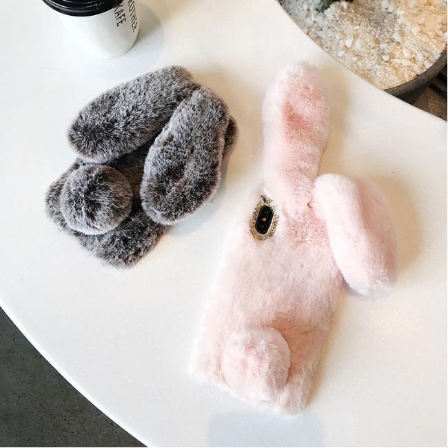 قاب ژله ای خرگوشی خزدار سامسونگ Rabbit Fur Samsung Galaxy A70s