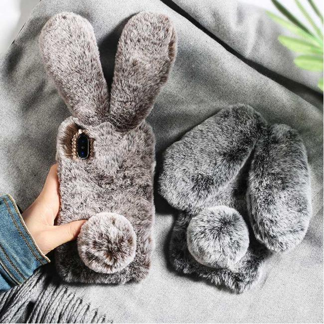 قاب ژله ای خرگوشی خزدار سامسونگ Rabbit Fur Samsung Galaxy M30s