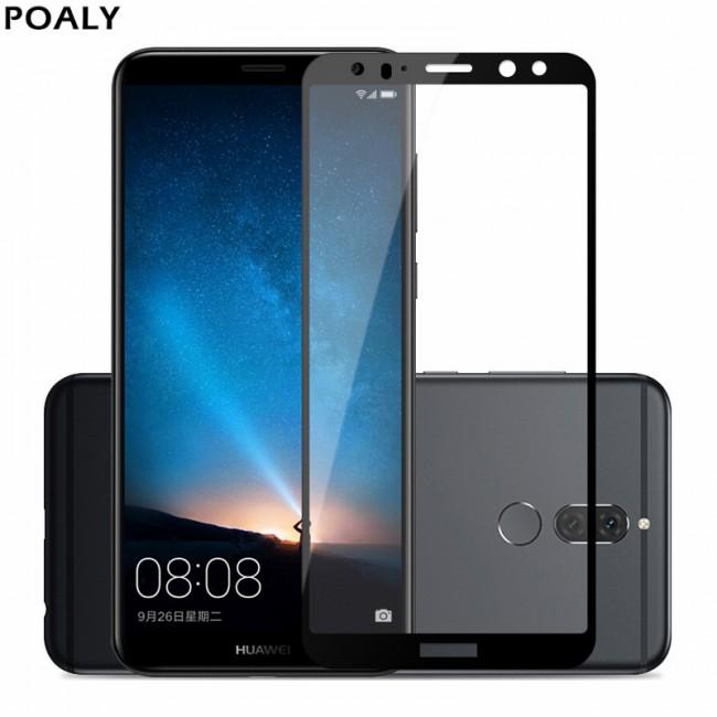 محافظ LCD شیشه ای فول چسب Full Glass Full Glues Screen Protector.Guard Huawei Mate 10 Lite