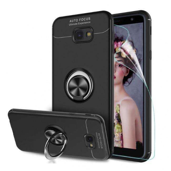 قاب ژله ای طرح چرم Magnet Ring Case Samsung Galaxy J4 Plus