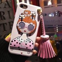 قاب ژله ای Hello Lady Sun Glass Case Apple iPhone 6 Plus