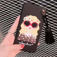 قاب ژله ای Hello Lady Sun Glass Case Samsung Galaxy S8