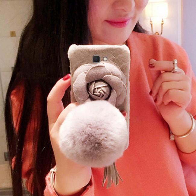 قاب مخملی خزدار Flower Fur Rose 3D Case for Samsung Galaxy J5 Prime