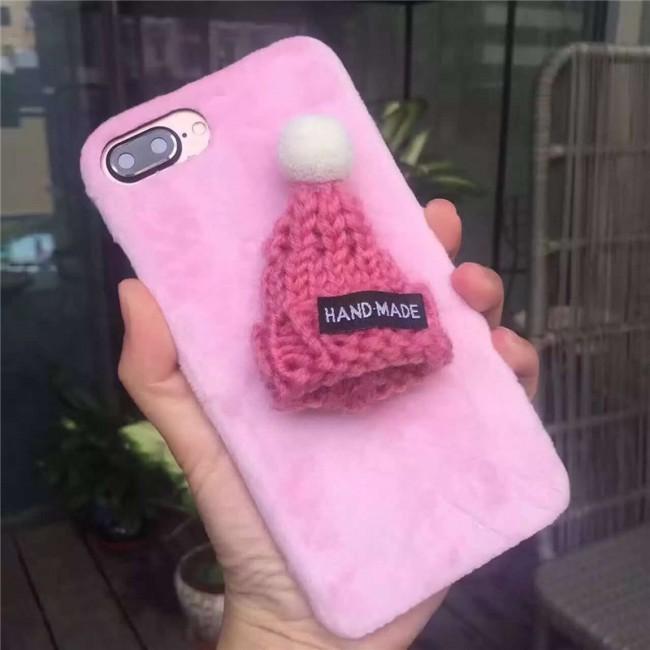 قاب مخملی Winter Fur 3D Plush Hat Case for Apple iPhone 7 Plus