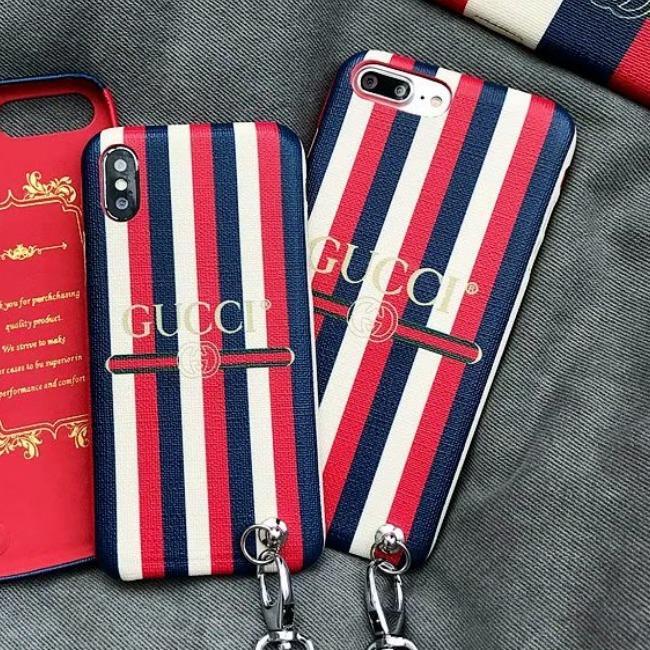قاب چرمی طرح گوچی Gucci Leather Case iPhone X/Xs