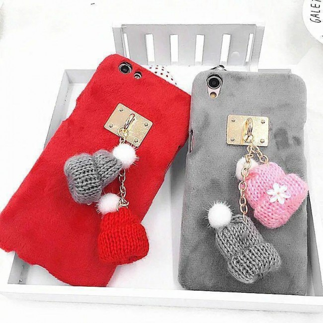 قاب مخملی Winter Fur Two Hat Case for Apple iPhone 6