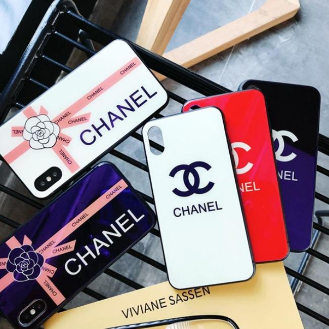 قاب پشت گلس چنل Chanel Back Glass Case iPhone 7 Plus