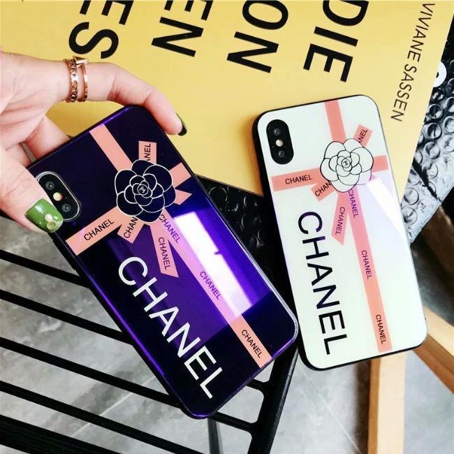 قاب پشت گلس چنل Chanel Back Glass Case iPhone Xs Max