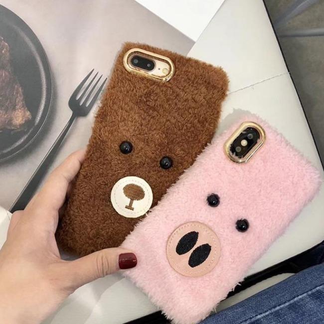 قاب پشمی خرسی Bear Fur Case Apple iPhone 6