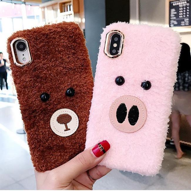 قاب پشمی خرسی Bear Fur Case Apple iPhone 6 Plus