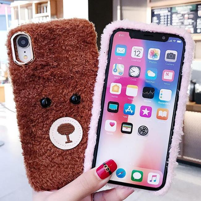 قاب پشمی خرسی Bear Fur Case Apple iPhone 7 Plus