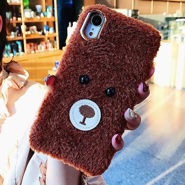 قاب پشمی خرسی Bear Fur Case Apple iPhone Xr