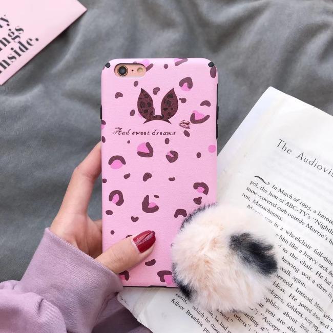 قاب پلنگی صورتی خزدار Leopard Fur Case Apple iPhone 6 Plus
