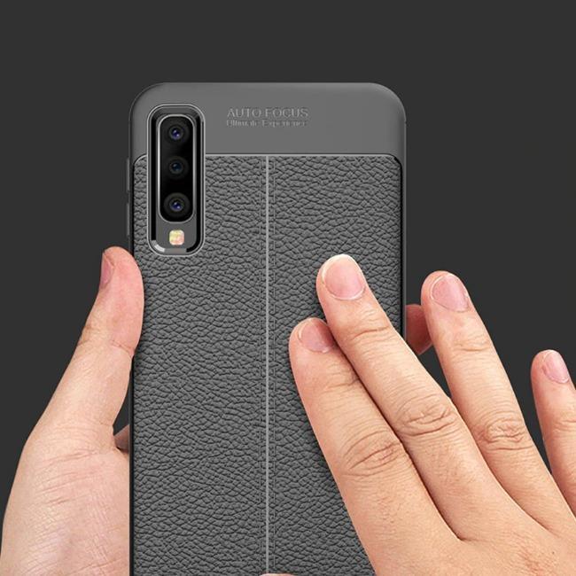 قاب ژله ای طرح چرم Auto Focus Case Samsung Galaxy A30s