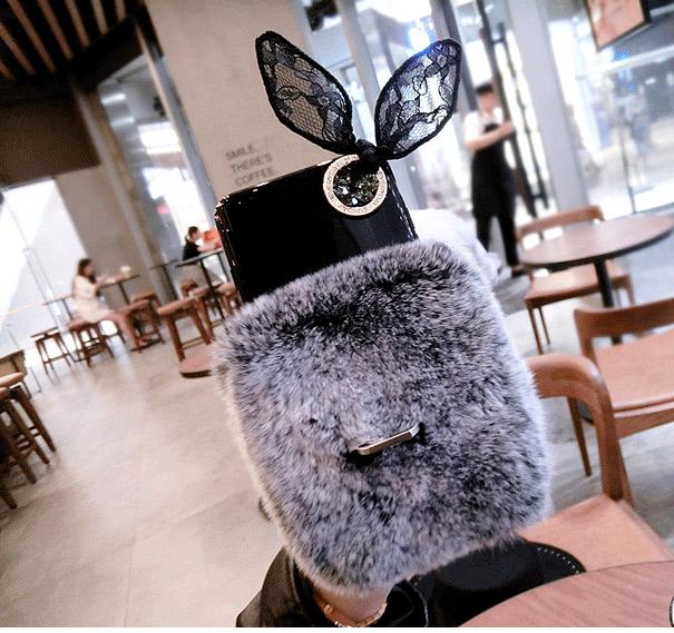 قاب ژله ای خزدار Ring Fur Case Samsung Galaxy S8