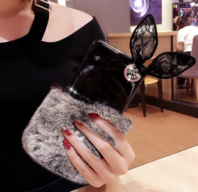 قاب ژله ای خزدار Ring Fur Case Huawei Mate 9