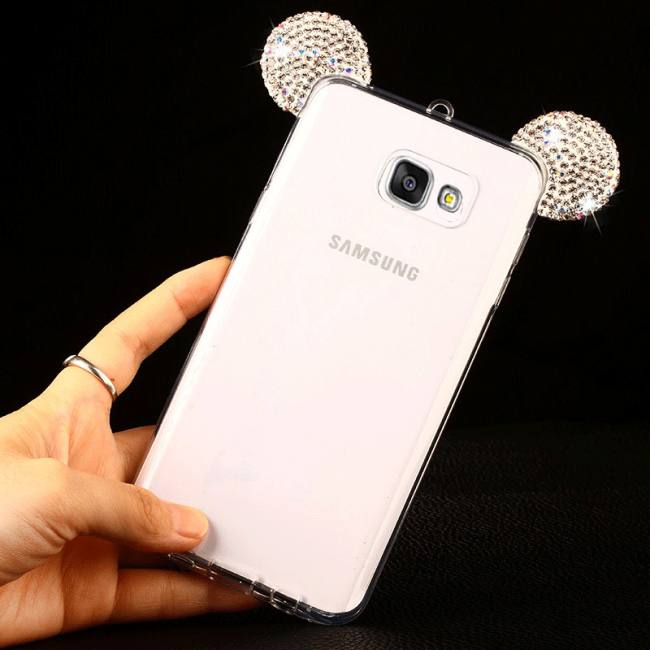 قاب ژله ای Diamond Mickey Luxury 3d Case for Samsung Galaxy A3 2016