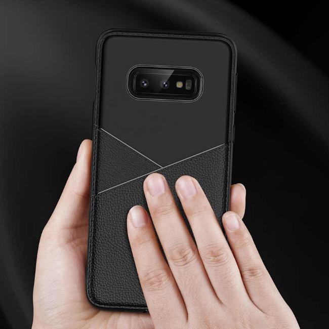 قاب ژله ای طرح چرم Samsung Galaxy J4 Plus 2018