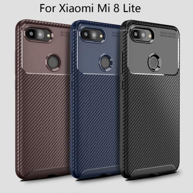 قاب ژله ای طرح کربن شیائومی Autofocus Carbon Case Xiaomi Mi 8 Lite